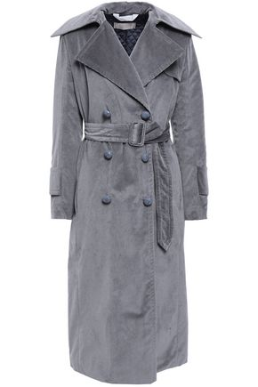 NINA RICCI Belted cotton-blend corduroy trench coat