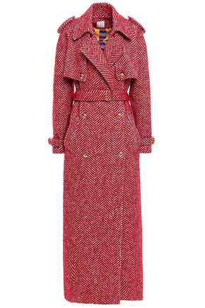STELLA JEAN Double-breasted tweed trench coat