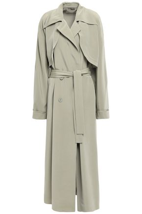 NINA RICCI Double-breasted crepe de chine trench coat