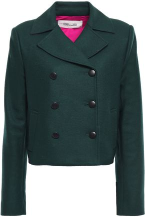 DIANE VON FURSTENBERG Double-breasted wool-blend twill jacket