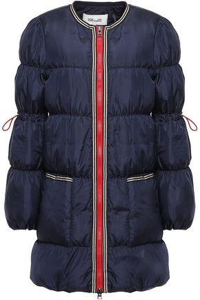 DIANE VON FURSTENBERG Grosgrain-trimmed quilted shell down jacket