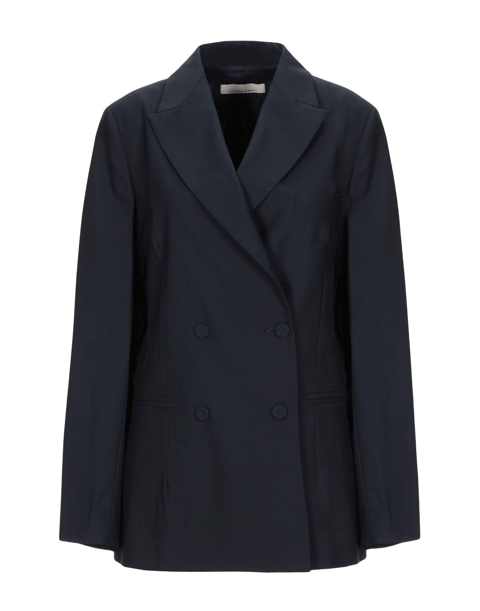 《セール開催中》LIVIANA CONTI レディース テーラードジャケット ダークブルー 44 バージンウール 100%