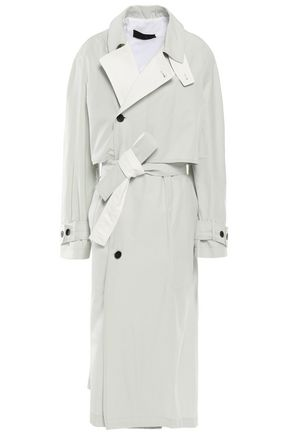 HAIDER ACKERMANN Coated cotton-blend twill trench coat