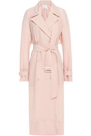 TIBI Oversized double-breasted shell trench coat