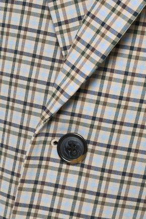 TIBI Zion checked cotton-blend coat