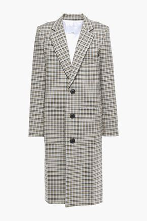 TIBI Zion checked cotton-blend coat