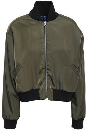 ÊTRE CÉCILE Embroidered shell bomber jacket