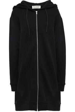 ÊTRE CÉCILE Appliquéd cotton-fleece hooded jacket