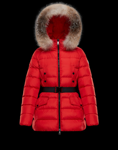 CLION Red Short Down Jackets Woman