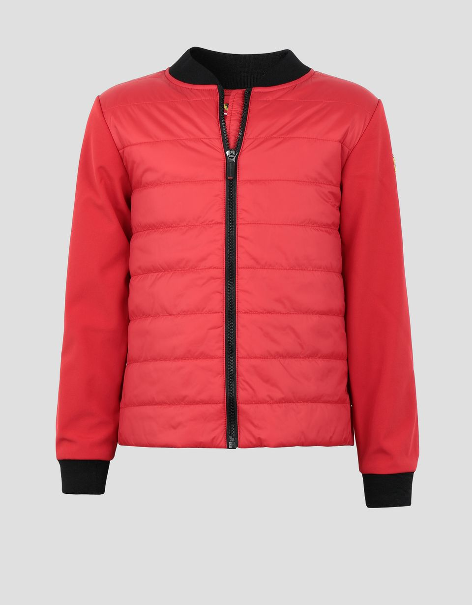 Scuderia Ferrari Online Store - Padded jacket with SOFTSHELL sleeves and back for boys and girls -