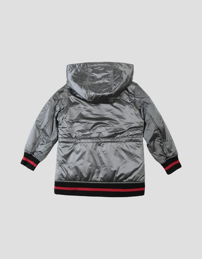 Girls' jacket in iridescent ripstop fabric