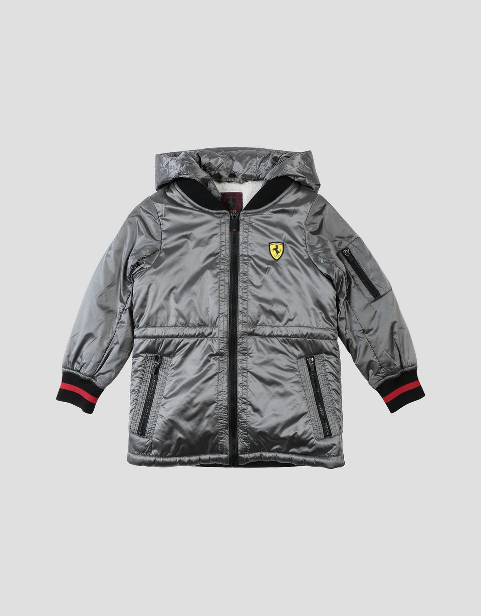 Scuderia Ferrari Online Store - Girl's jacket in iridescent ripstop fabric - Bombers & Track Jackets