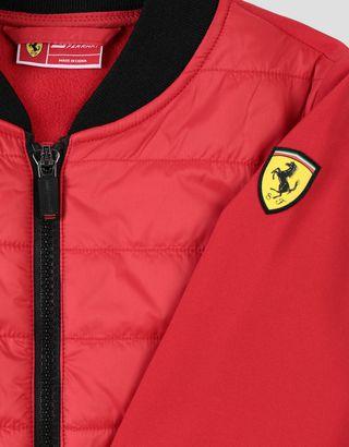 Scuderia Ferrari Online Store - Wattierte Jacke für Jungen und Mädchen mit Ärmeln und Rückseite aus SOFTSHELL - Bomber-& Sportjacken