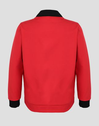 Scuderia Ferrari Online Store - 少年与少女软壳衣袖和背部衬垫夹克 - 飞行夹克与运动夹克