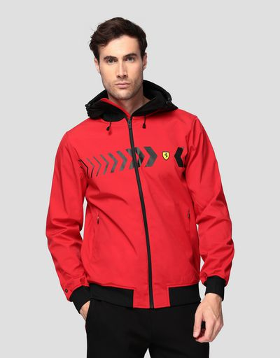 Men's hooded jacket in SOFTSHELL