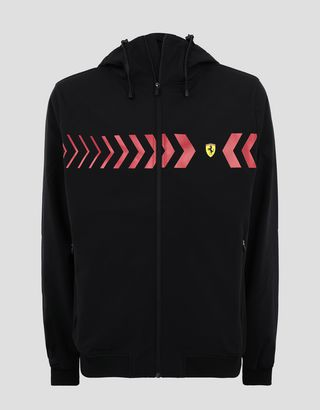 Scuderia Ferrari Online Store - SOFTSHELL men's jacket with hood - Bombers & Track Jackets