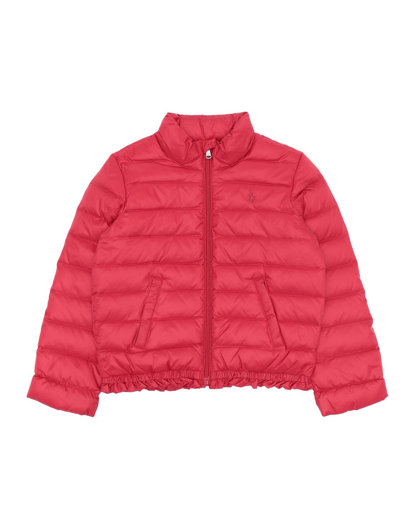 《期間限定 セール開催中》RALPH LAUREN ガールズ 3-8 歳 ダウンジャケット レッド 5 ナイロン 100% Ruffled Quilted Down Jacket