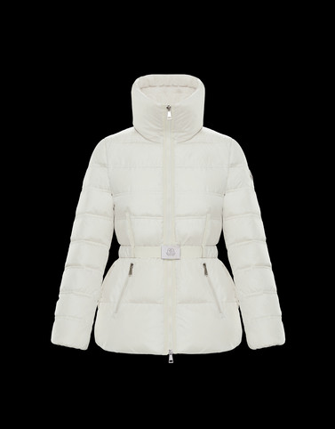 ALOUETTE White Short Down Jackets Woman