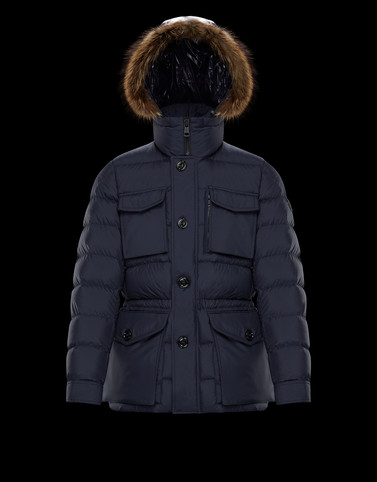 AUGERT Dark blue Down Jackets Man