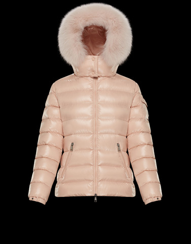 BADYFUR Salmon pink Short Down Jackets