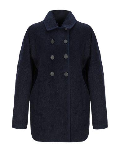 Купить Женское пальто или плащ  темно-синего цвета