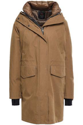 49WINTERS Convertible gabardine hooded down coat