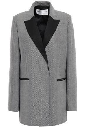AMANDA WAKELEY Herringbone wool blazer