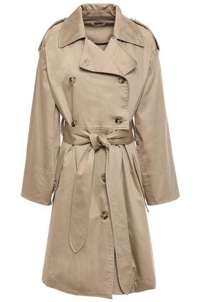 TOME Double-breasted cotton-blend gabardine trench coat