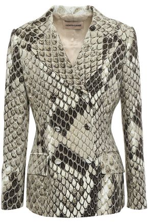 ROBERTO CAVALLI Double-breasted cady blazer