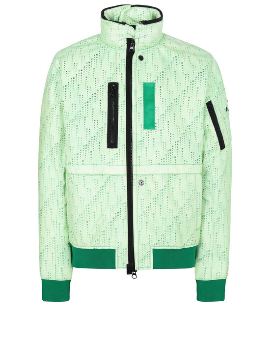 STONE ISLAND SHADOW PROJECT 40604 FRAG COLLAR JACKET WITH STOWABLE SPLIT HOOD Jacket Man Green