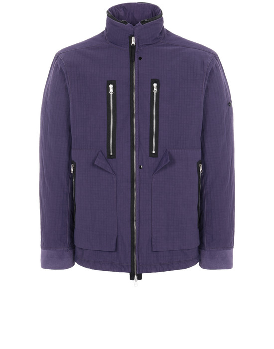 STONE ISLAND SHADOW PROJECT 40702 FRAG COLLAR FIELD JACKET WITH STOWABLE SPLIT HOOD Mid-length jacket Man Indigo