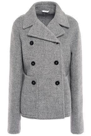 JIL SANDER Double-breasted llama-blend felt coat