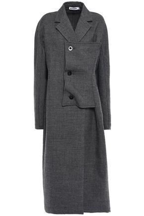 JIL SANDER Paneled wool-crepe coat