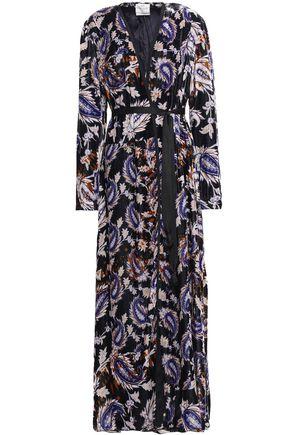 FORTE_FORTE Printed velvet robe