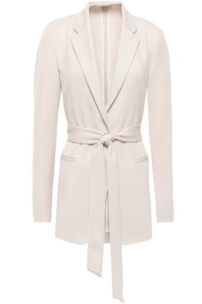 FORTE_FORTE Belted wool-twill blazer