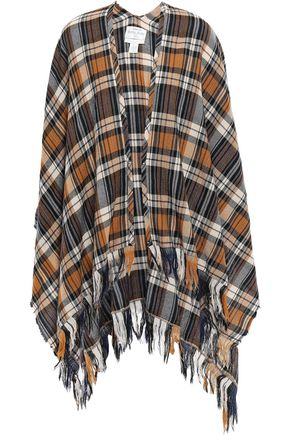 FORTE_FORTE Fringed wool cape