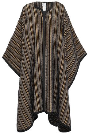 FORTE_FORTE Striped bouclé-tweed cape