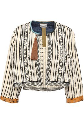 FORTE_FORTE Tasseled embroidered cotton and silk-blend jacket
