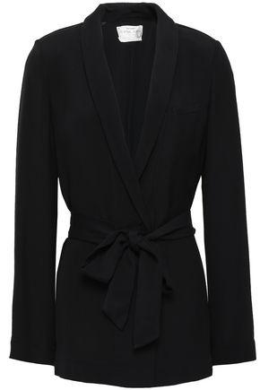 FORTE_FORTE Belted crinkled-crepe blazer