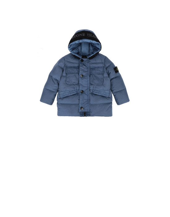 Jacket 40233 GARMENT-DYED CRINKLE REPS NY DOWN  STONE ISLAND JUNIOR - 0
