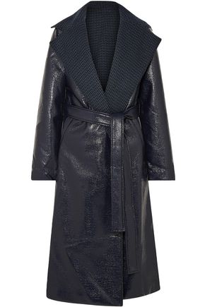 SID NEIGUM Reversible belted coated-tweed coat