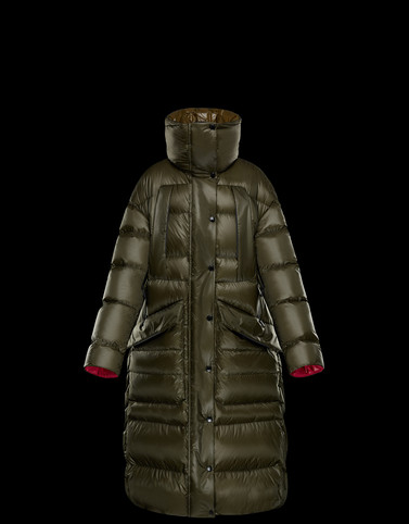CLARIDEN Green Category Parka Woman