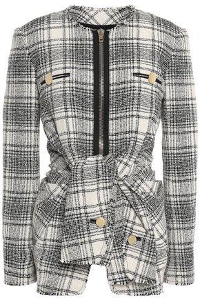 ALEXANDER WANG Belted cotton-blend tweed jacket