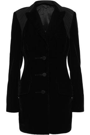 ALEXANDER WANG Stretch-jersey paneled velvet blazer