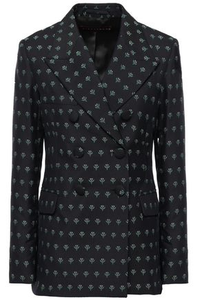 ALEXACHUNG Double-breasted wool-blend jacquard blazer