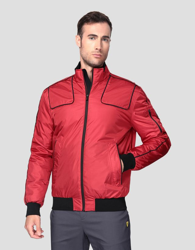 Scuderia Ferrari Online Store - Men's bomber jacket in CARBONX - Bombers & Track Jackets