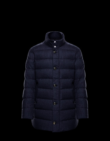 BAUDIER Dark blue Category Outerwear Man