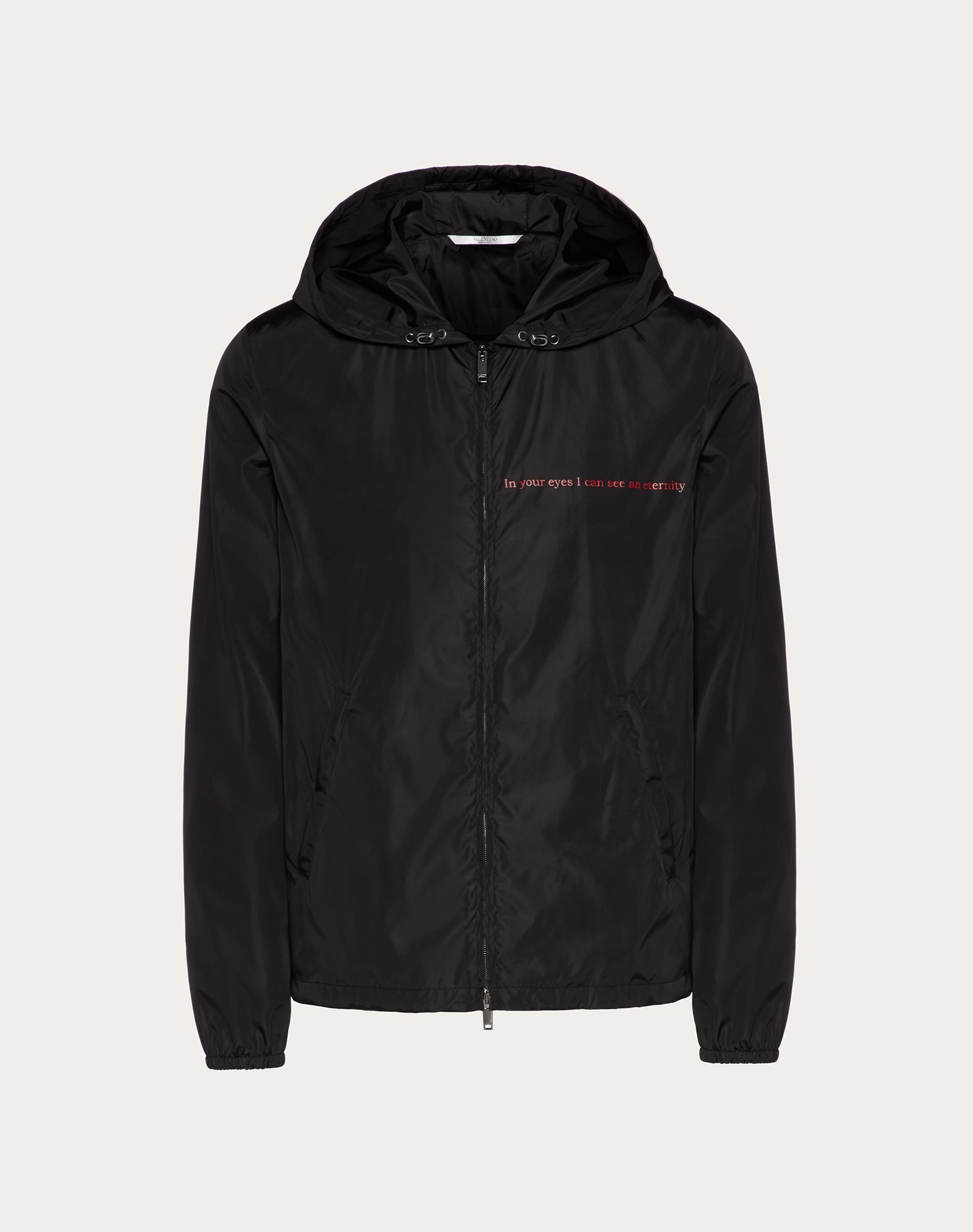 VALENTINO LOVE HOODED WINDBREAKER