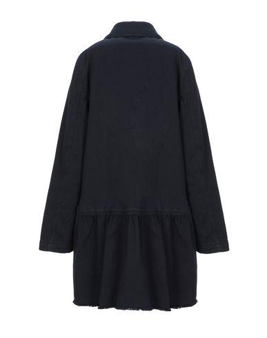 Фото 2 - Женское пальто или плащ  темно-синего цвета