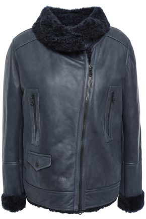 BRUNELLO CUCINELLI Bead-embellished shearling jacket